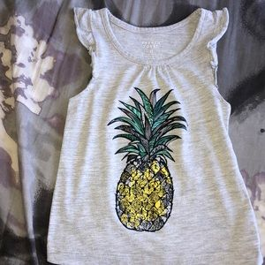 French toast gray pineapple shirt